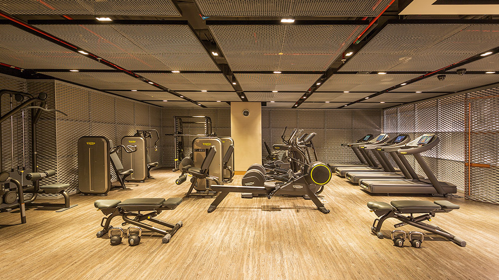 Fitness centre equipment at Caesars Resort Bluewaters
