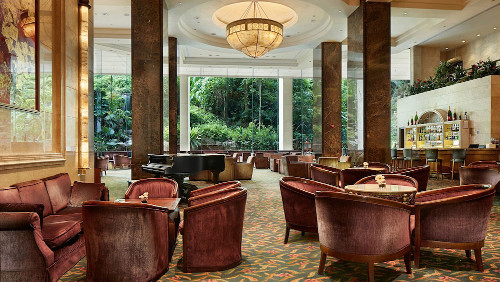 Lobby of the Furama Riverfront Hotel in Singapore