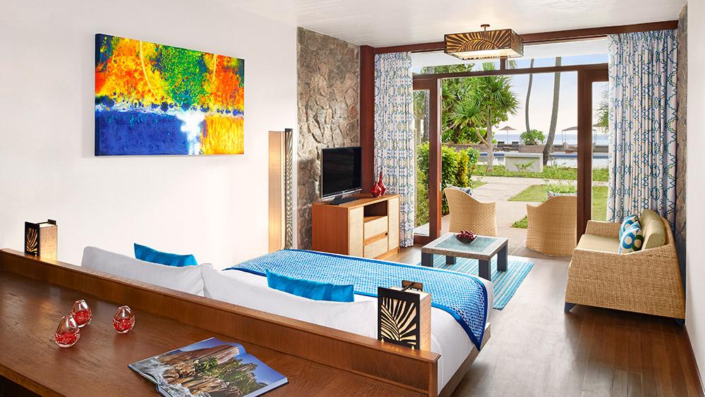 Bedroom of the Garden View ROom at AVANI Barbarons Seychelles