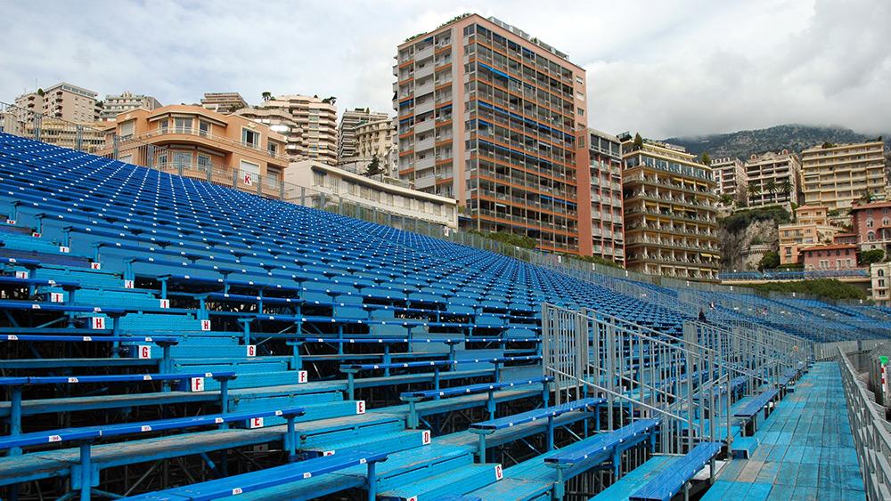 Grandstand seating for the Monaco F1 Grand Prix