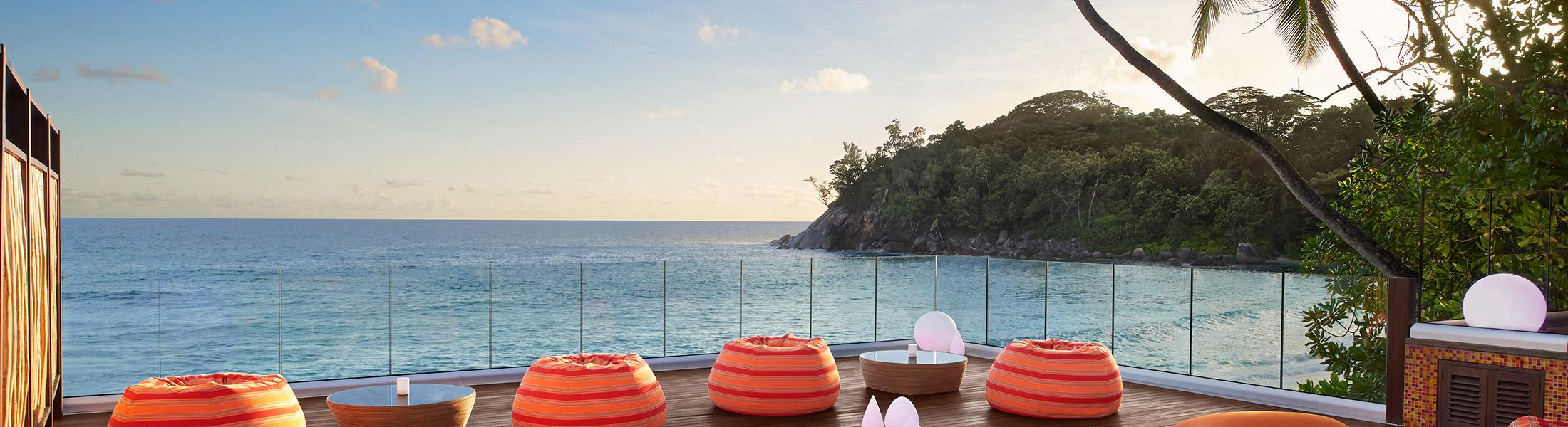 Gravity Bar overlooking the Indian Ocean at AVANI Barbarons Seychelles