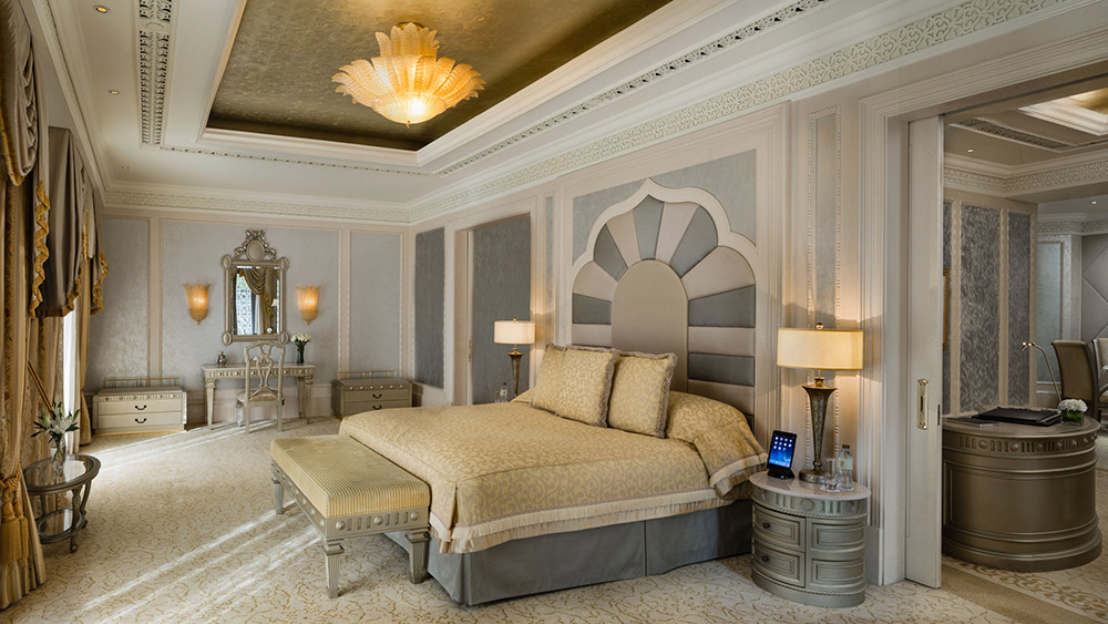 Bedroom of the Khaleej Deluxe Suite at Emirates Palace