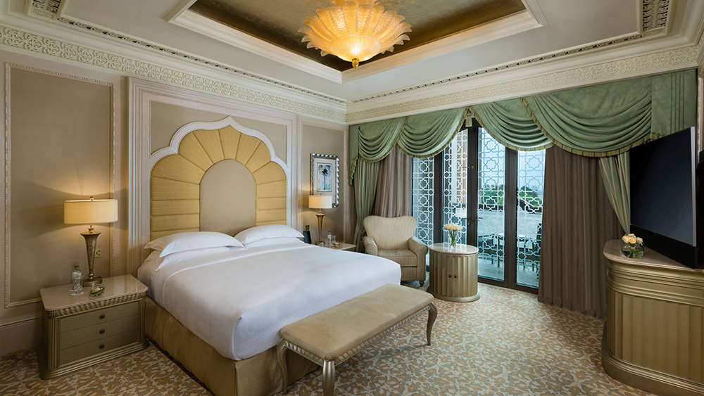 Bedroom of the Khaleej Suite at Emirates Palace
