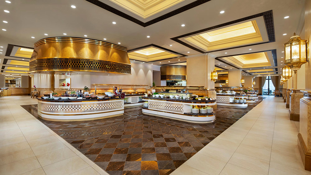 Buffet counters at Le Vendome Restaurant at Emirates Palace