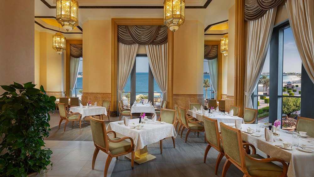 Indoor seating at Le Vendome Restaurant at Emirates Palace
