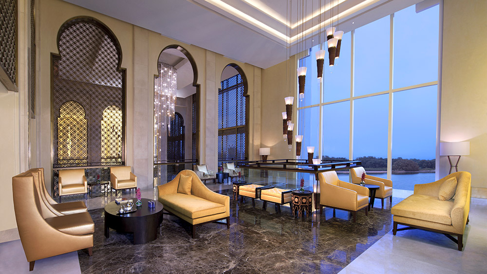 Lobby lounge at Anantara Eastern Mangroves Hotel & Spa