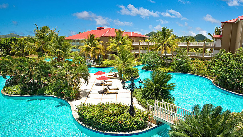 Lover's Lagoon pool at Sandals Grande St Lucian