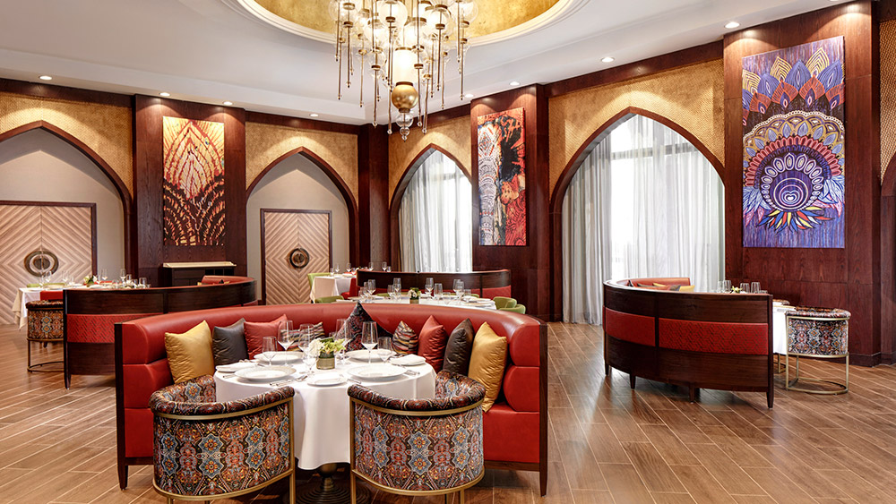 Booth seating at Martabaan Restaurant at Emirates Palace