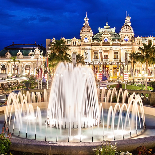 Monte Carlo Casino at night