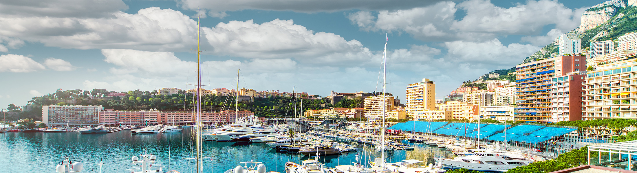 View of the Monaco Marina from Tabac during the Monaco F1 Grand Prix