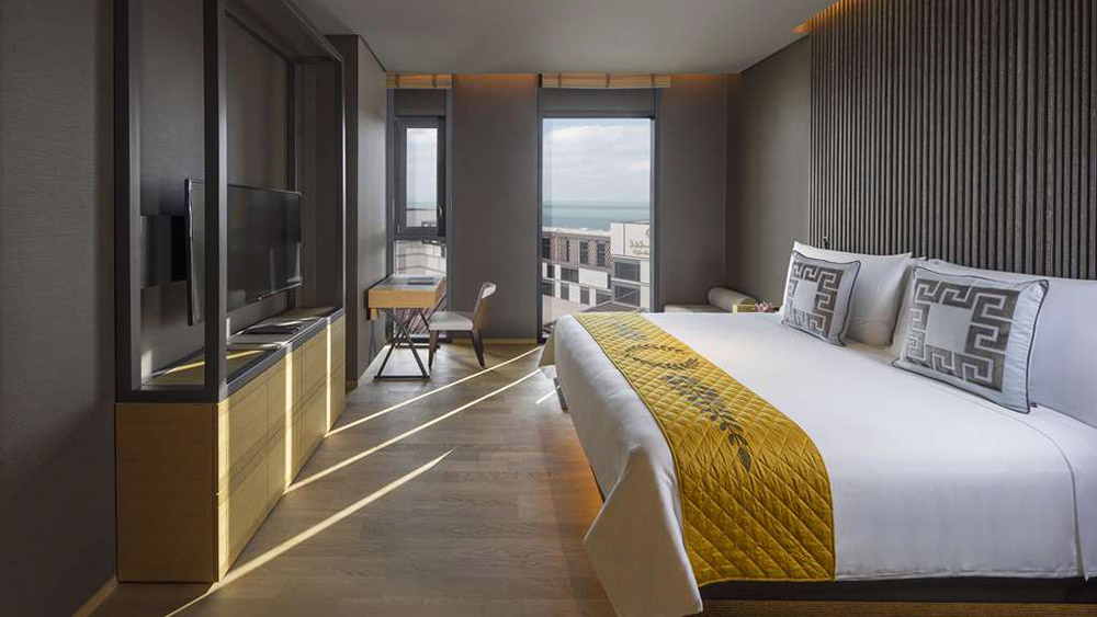 Bedroom of the One Bedroom Residence Suite at Caesars Palace Bluewater