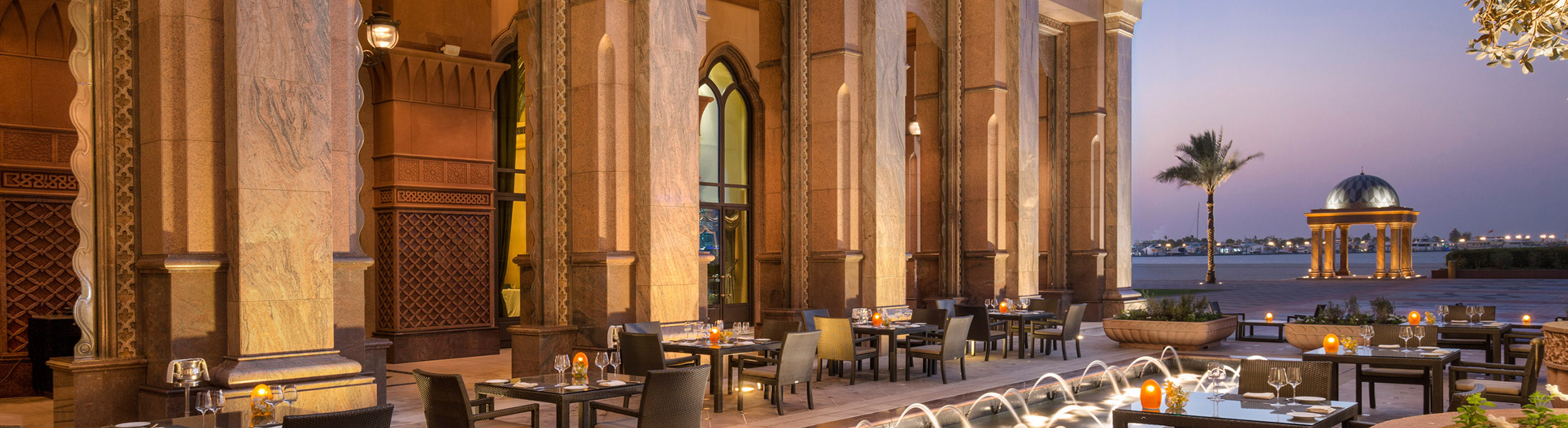 Outdoor dining terrace at Emirates Palace