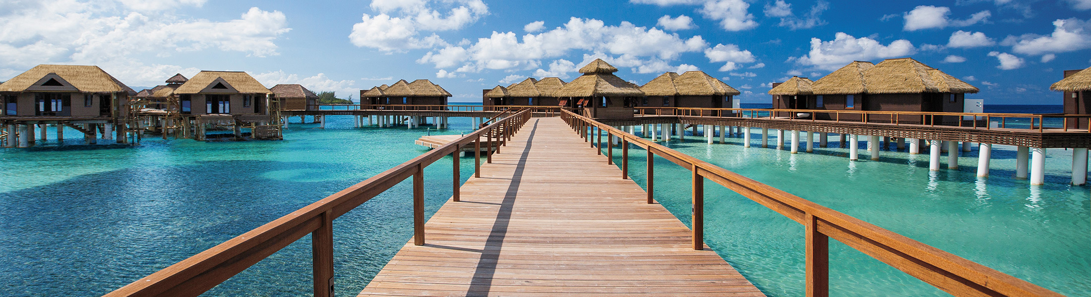 Jetty to the Overwater Villas at Sandals Royal Caribbean