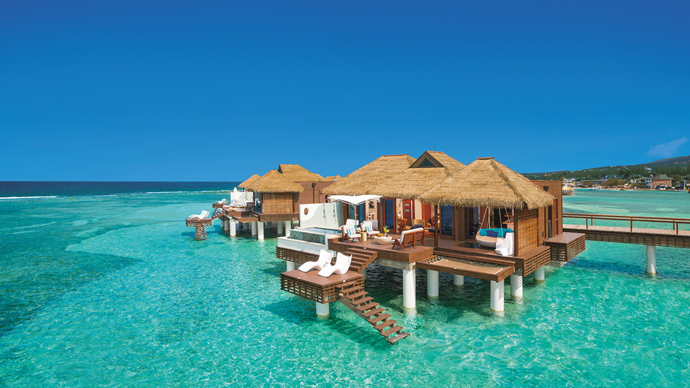 Exterior of the Over-the-Water Private Island Villa at Sandals Royal Caribbean