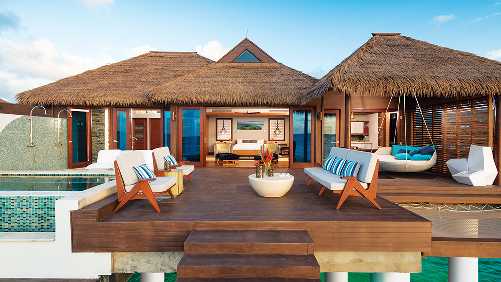 Exterior of the Overwater Villa at Sandals Royal Caribbean