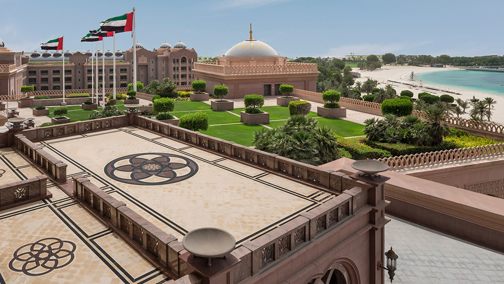 View from the Palace Suite balcony at Emirates Palace