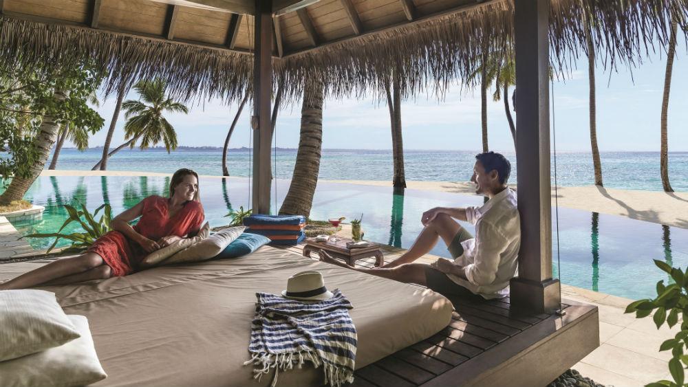 Pool Cabana at the Shangri La Villingili Maldives