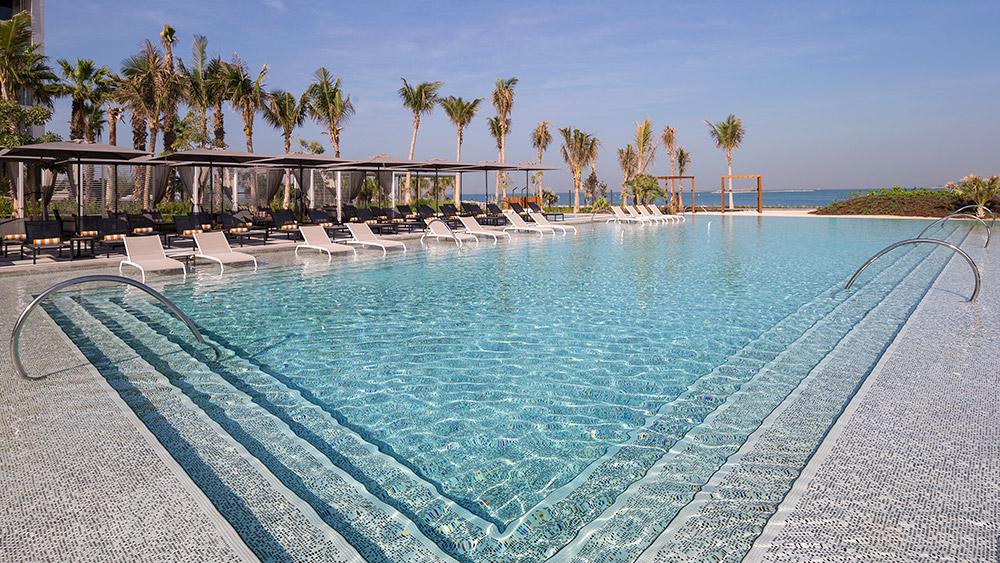 Infinity pool at Caesars Resort Bluewaters