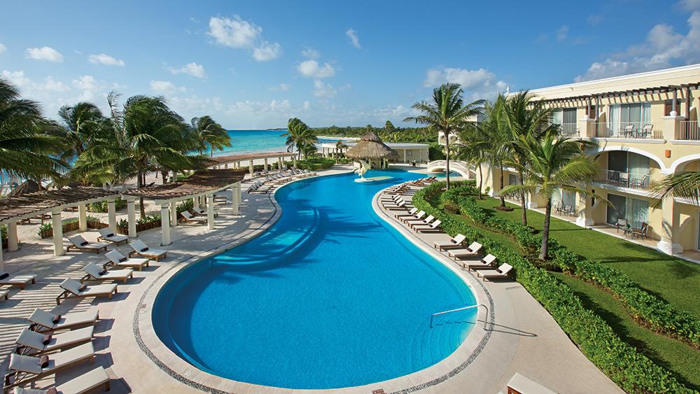 Free form pool at Dreams Tulum Resort & Spa