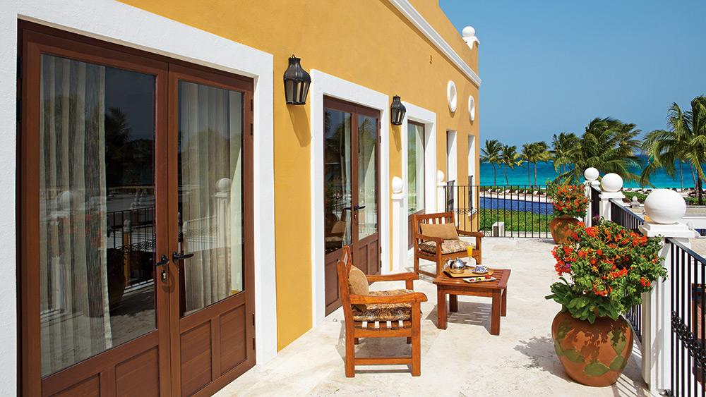 Pesidential suite terrace at Dreams Tulum Resort & Spa
