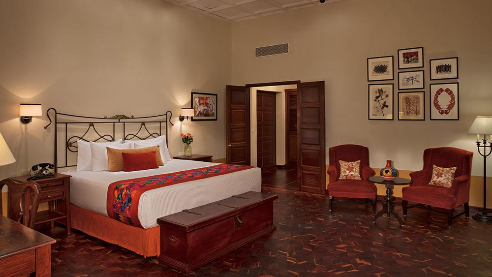 Bedroom of the Hacienda Suite at Dreams Tulum Resort & Spa