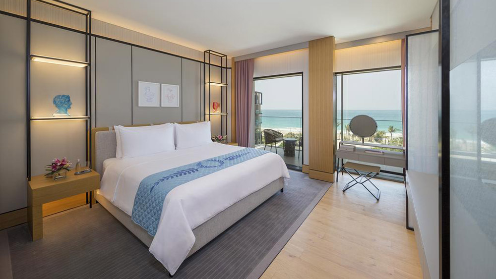 Bedroom of the Presidential Suite at Caesars Resort Bluewaters