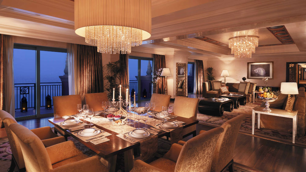 Presidential suite at the Atlantis the Palm