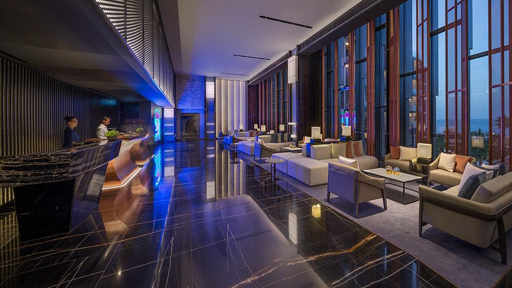 Reception area at Caesars Resort Bluewaters