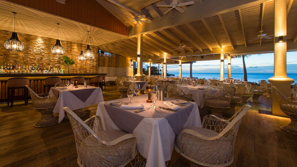 Restaurant at the Blue Waters Antigua