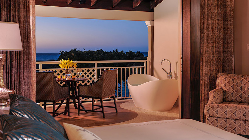 Balcony of the Romeo & Juliet Suite at Sandals Royal Caribbean