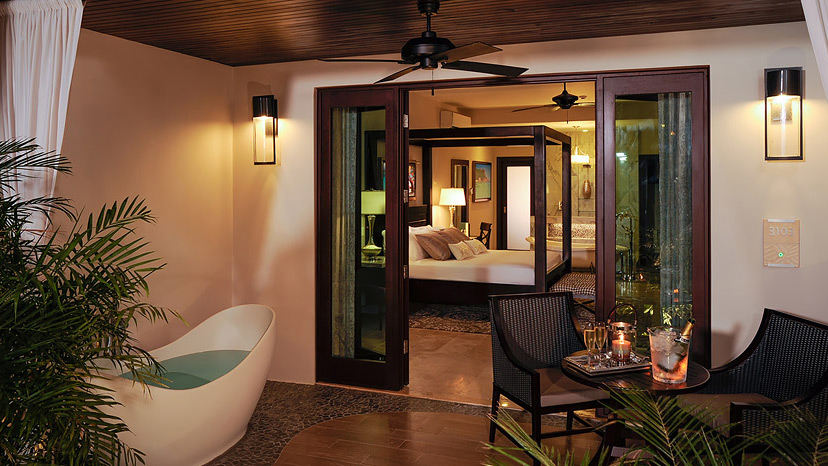 Terrace of the Romeo & Juliet Walkout Suite at Sandals Royal Caribbean