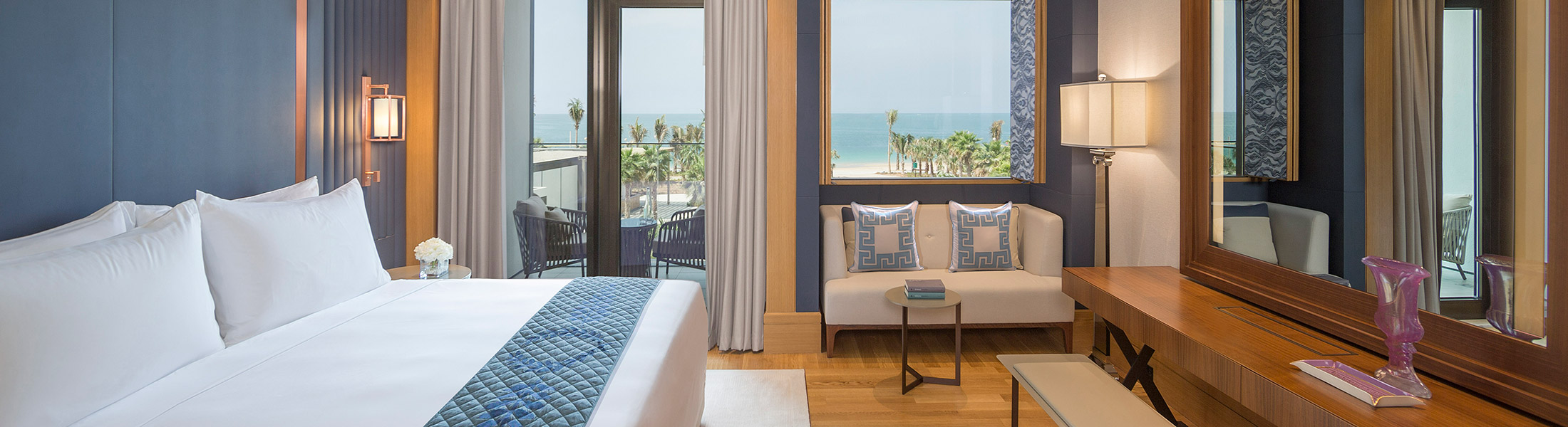 Bedroom of the Resort Deluxe Room at Caesars Resort Bluewaters