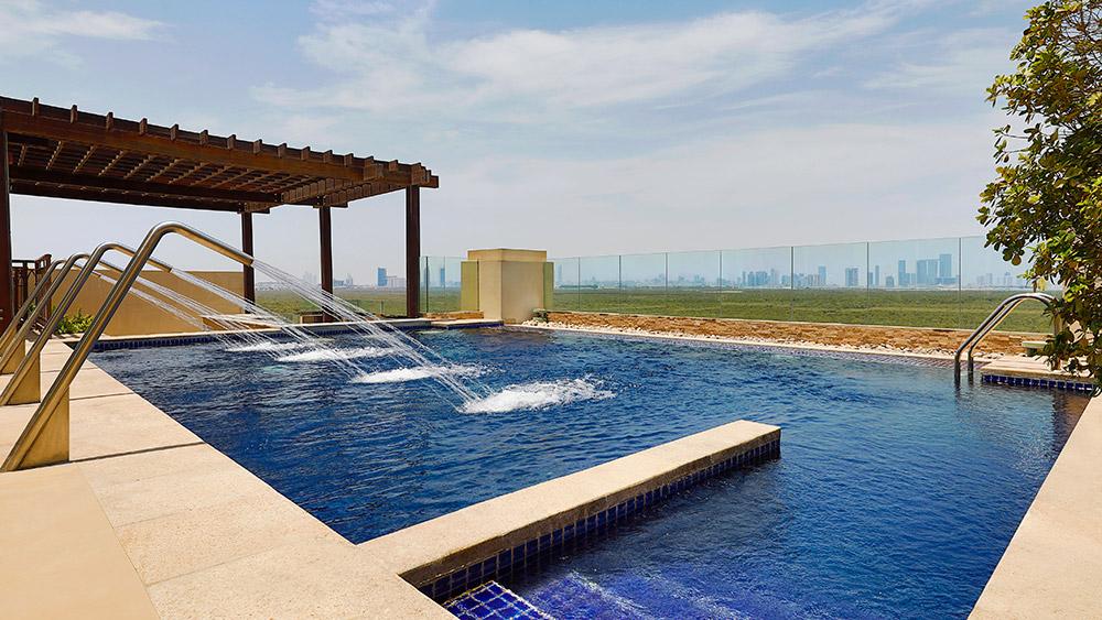 Private pool of the Royal Mangroves Suite at Anantara Eastern Mangroves