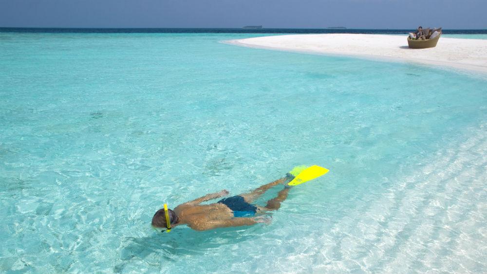 Sandbank Snorkelling at the Baros Maldives