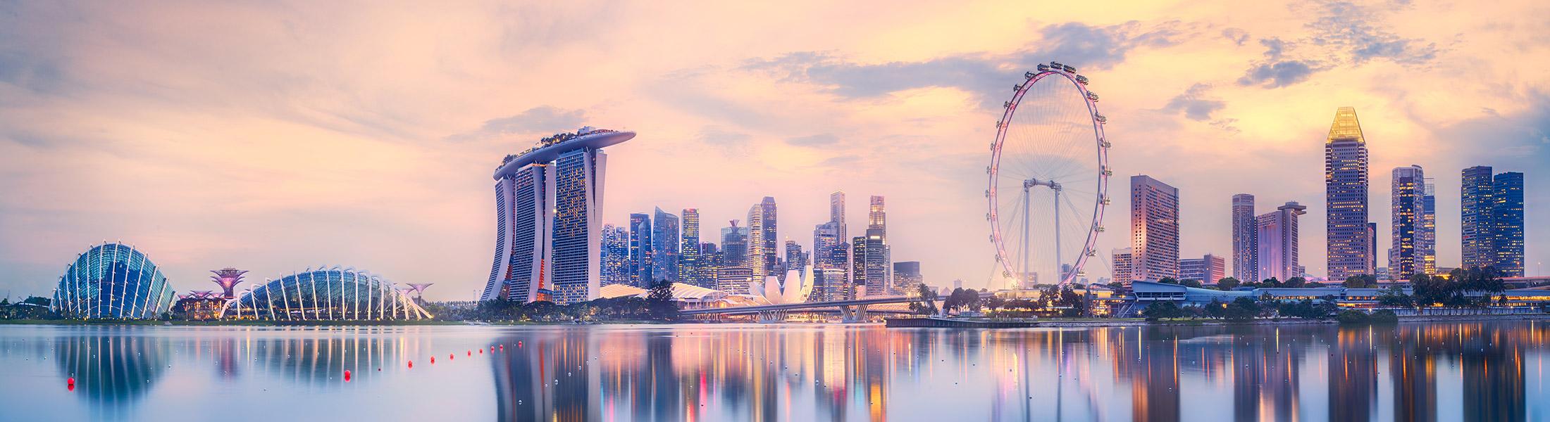 Singapore City Skyline on an Australia Multi-centre holiday