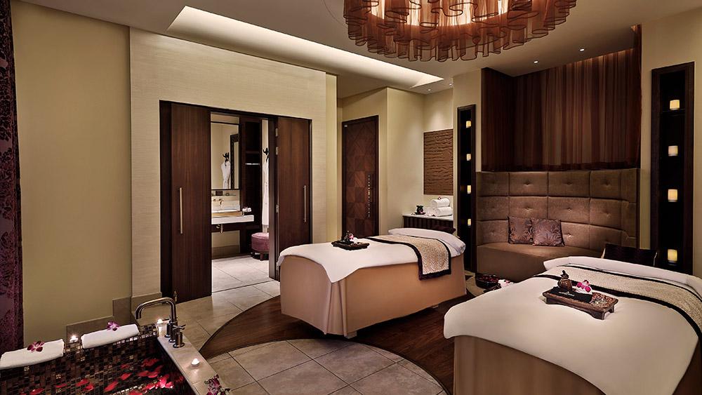 Treatment tables at the spa at Anantara Eastern Mangroves Hotel & Spa