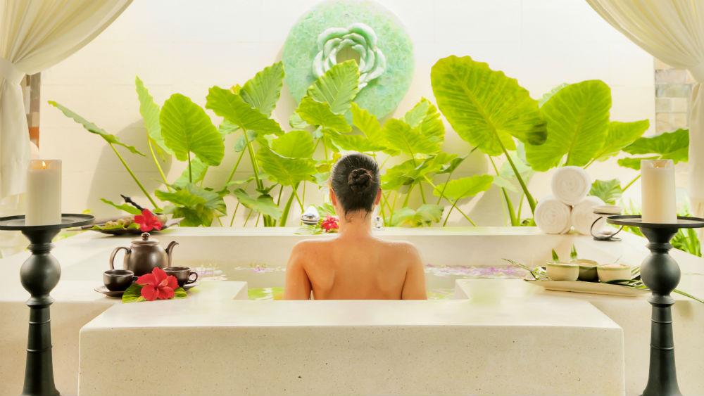 Spa Bath at the Baros Maldives