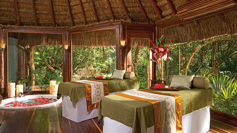 Treatment tables at the spa at Dreams Tulum Resort & Spa