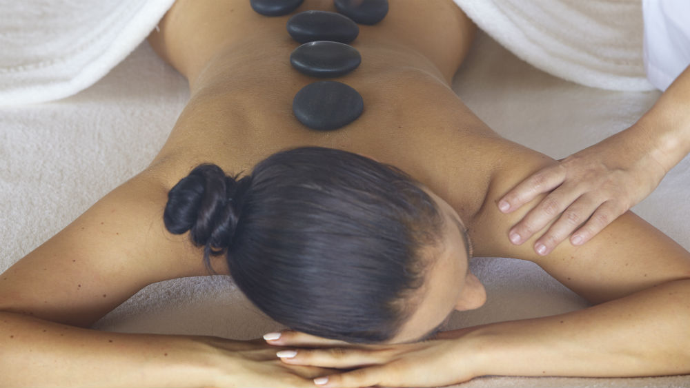 Spa Hot Stone Massage at the Baros Maldives