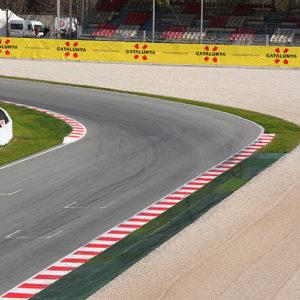Final corner of the Circuit de Barcelona-Catalunya at the Spanish F1 Grand Prix