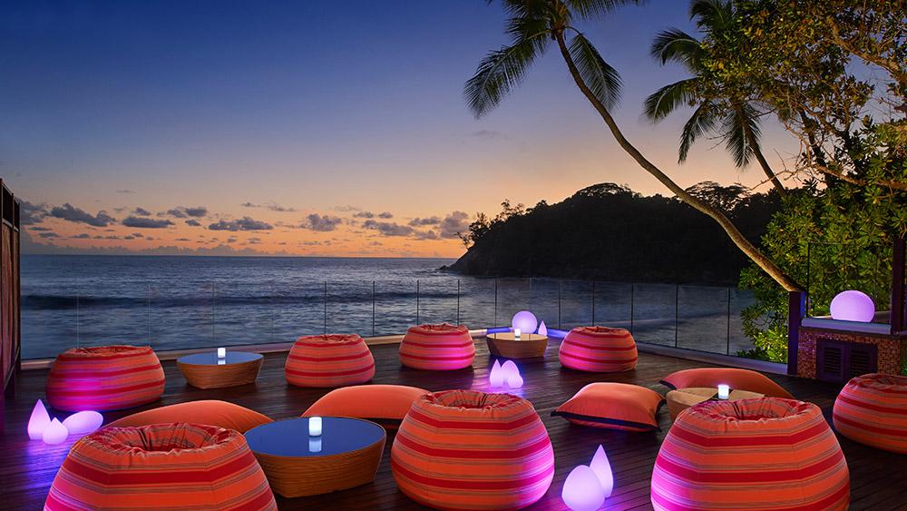 Sunset at Gravity Lounge at AVANI Barbarons Seychelles