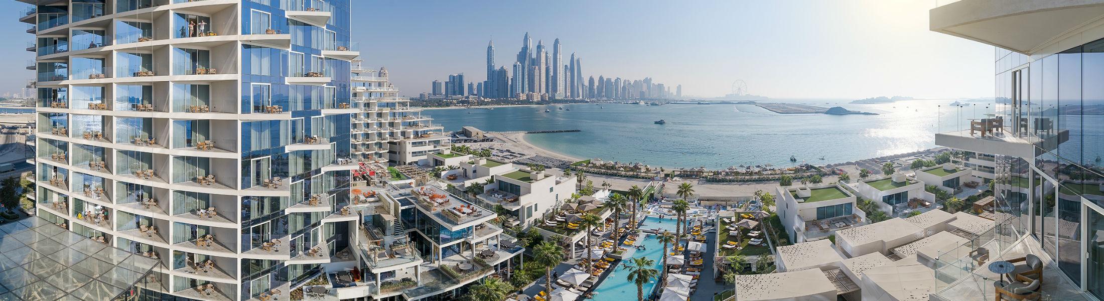 View from the Five Palm Jumeirah of Dubai Marina