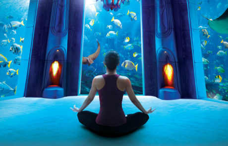 Under Water Yoga at the Atlantis The Palm