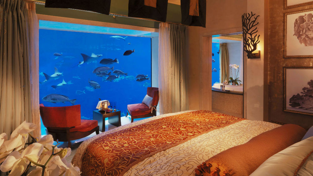 Underwater suites at the Atlantis the Palm