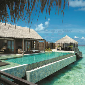 Villa Muthee deck and infinity pool Shangri La Villingili Maldives