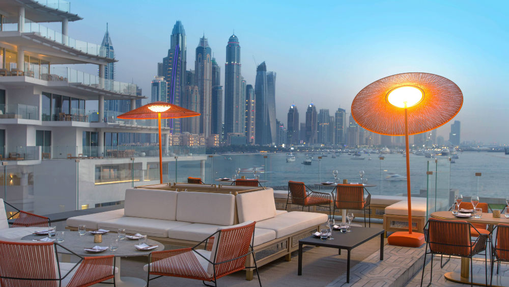 Maiden Shanghai roof terrace at the Five Palm Jumeriah