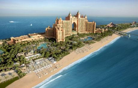 Resort landscape at the Atlantis The Palm