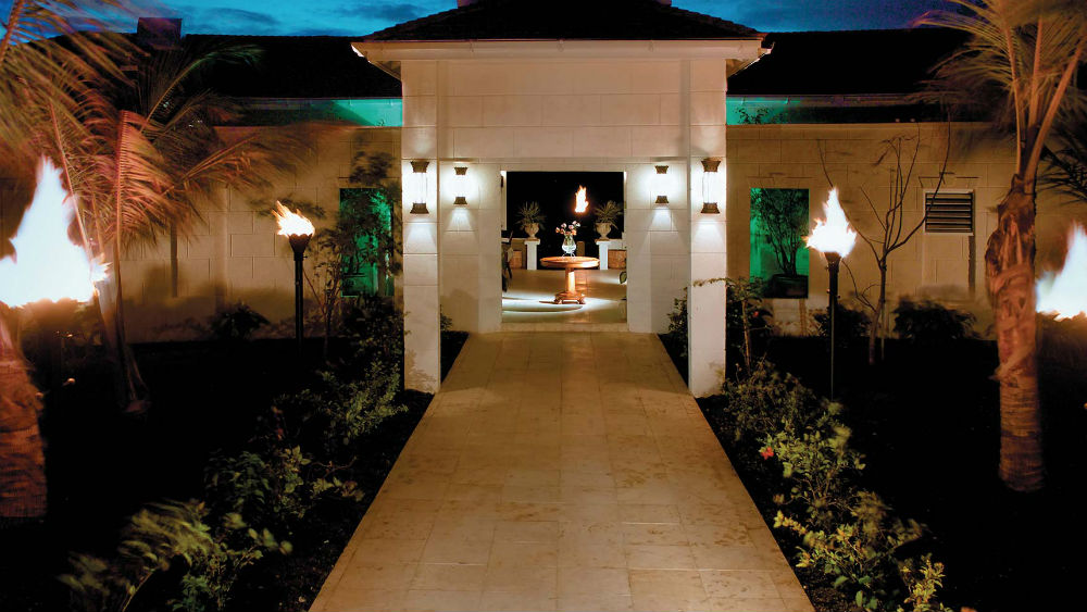 spa entrance at the Blue Waters Antigua