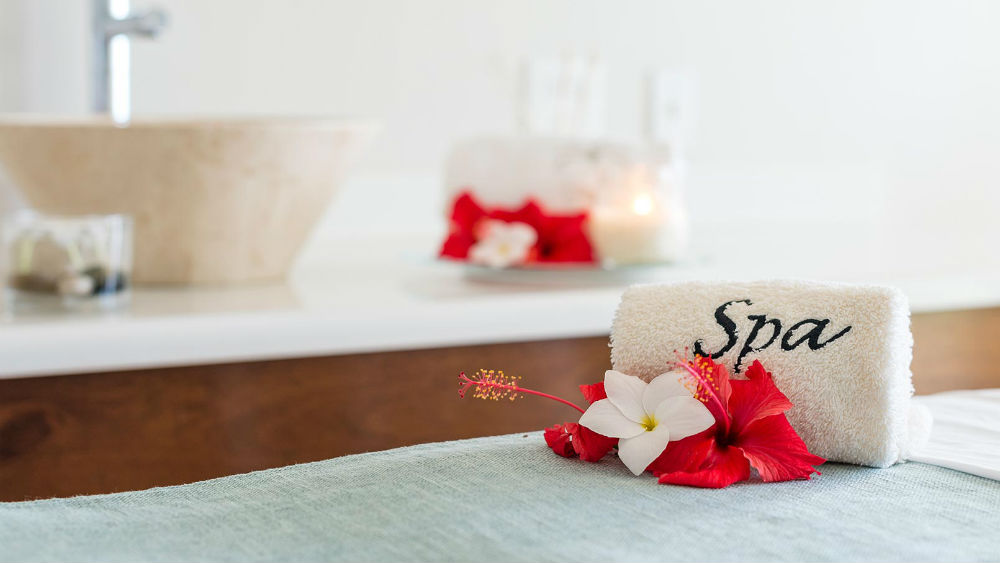 spa towels at the Blue Waters Antigua