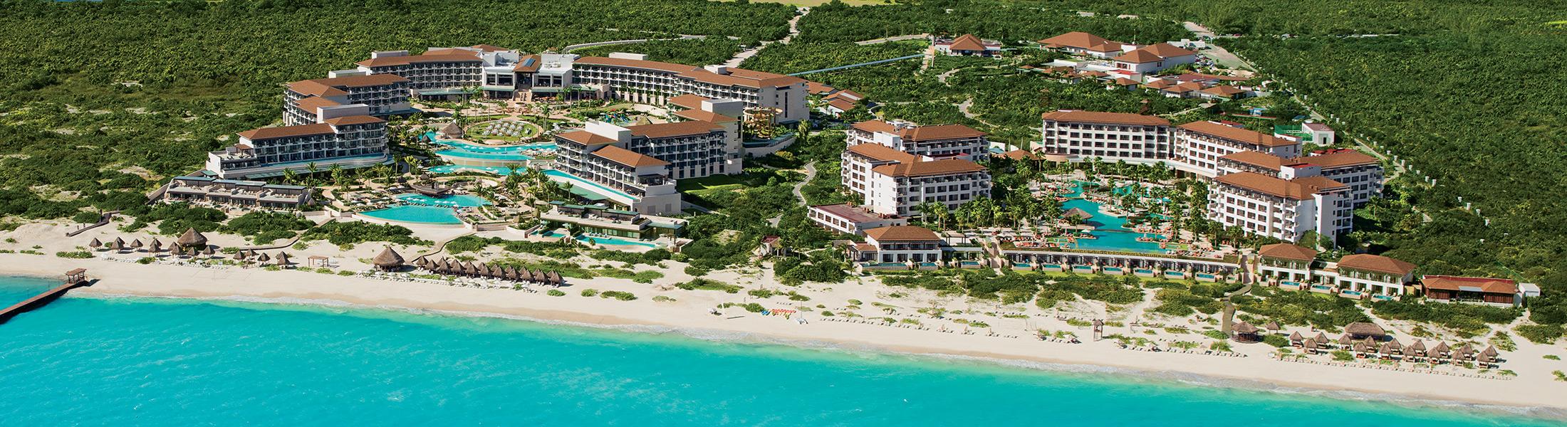 Aerial view of Dreams Playa Mujeres